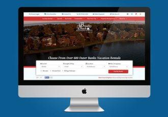 Homepage rendered on a desktop
